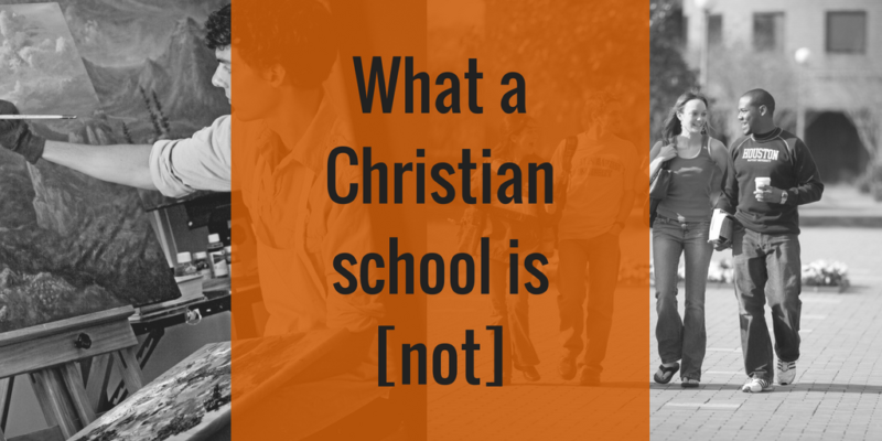 What a Christian school is not, Robert B. Sloan, students on campus
