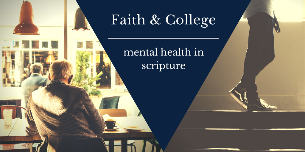 Mental Health in Scripture, old man alone, young man walking up stairs