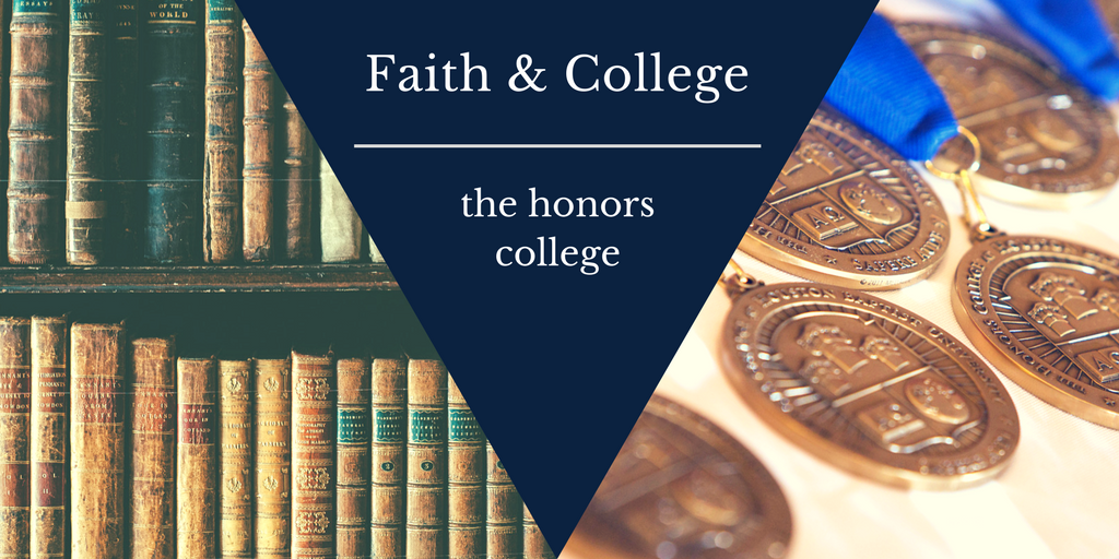 classic books on a bookshelf, honors college at hbu medals for graduates, Faith and college, the honors college