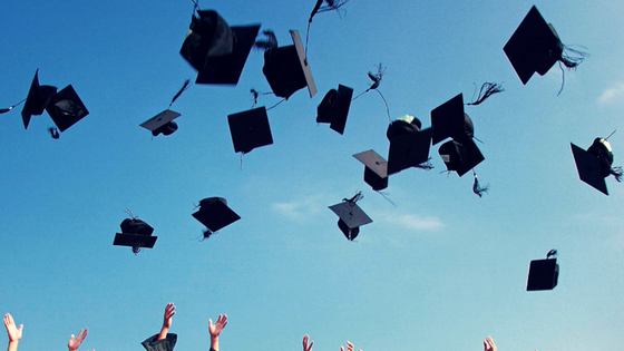 how to prepare for college graduation - graduation caps in air - jobs - internships - resumes - after college life