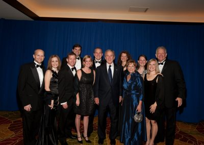 Sloan family with President George W. Bush at the HBU Spirit of Excellence Gala