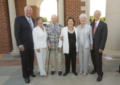 Dr. Robert B. Sloan, Sue Sloan, HBU Founder Stewart Morris, Mary Anne Belin, Sadie Hodo, and President Emeritus Doug Hodo