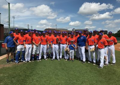 Robert and Sue's grandson with the HBU Baseball Team