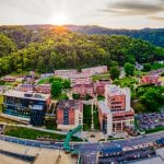 birds eye view of UPIKE campus