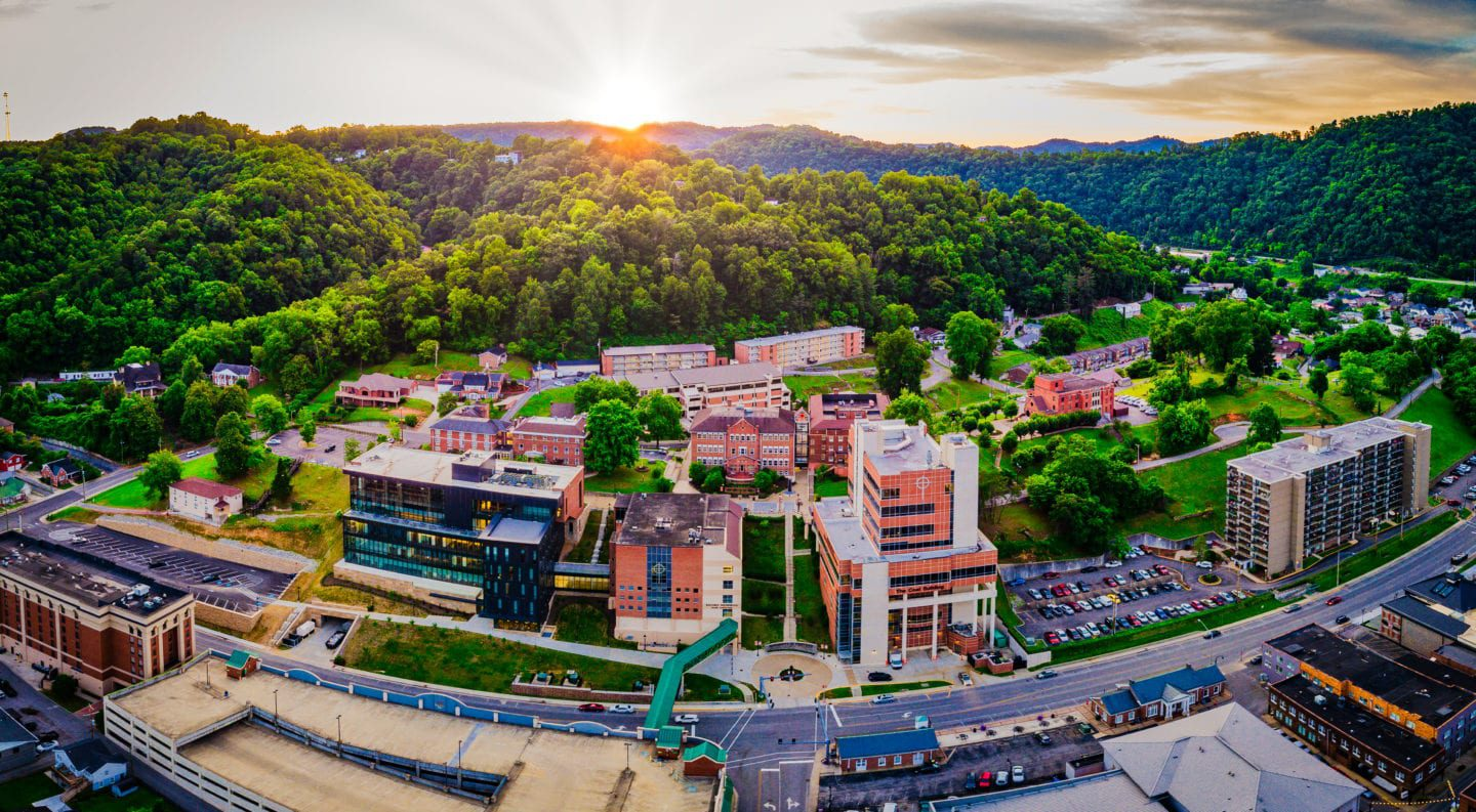 Photo of the UPIKE campus at dusk