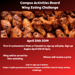 flyer for wing eating challenge