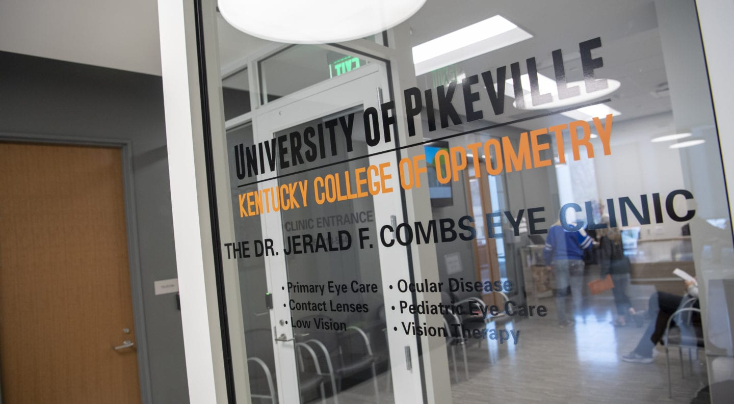 the Jerald C. Combs eye clinic at the Kentucky College of Optometry