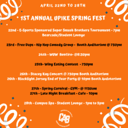 flyer for spring fest events