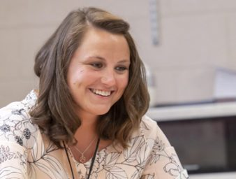 upike alumnus aileah walters teachs students in her class room