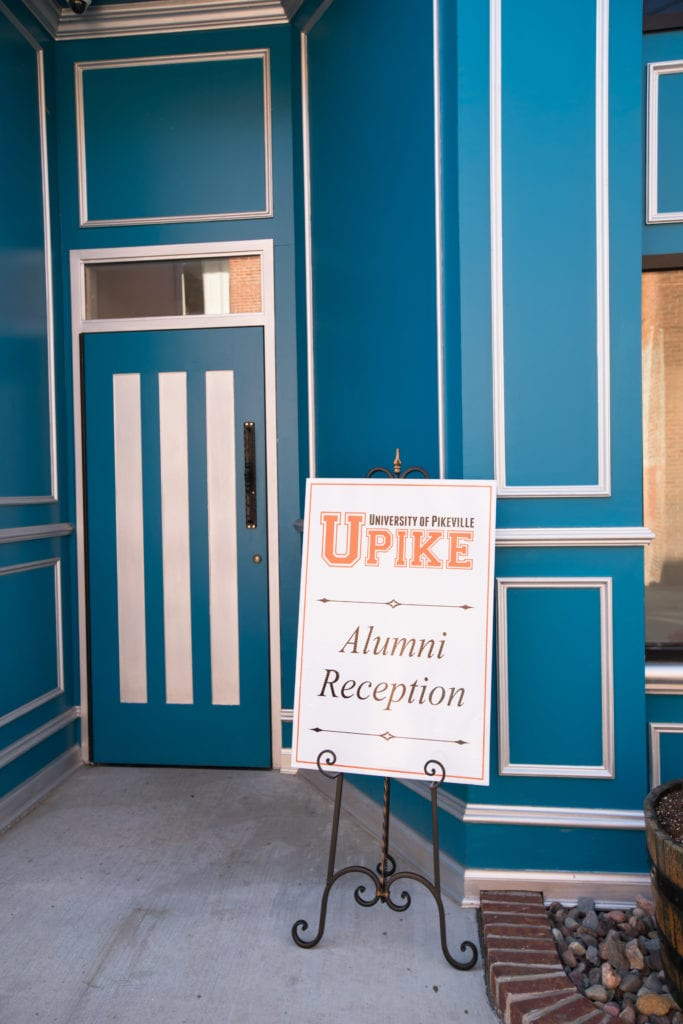 Welcome sign for UPIKE alumni