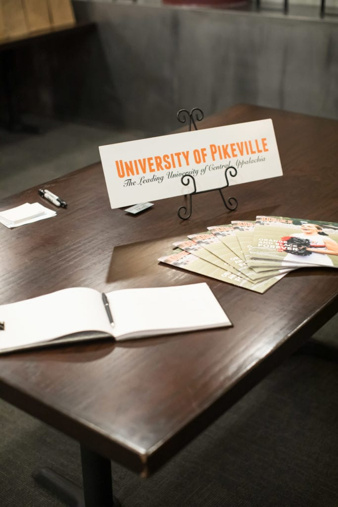welcome table with UPIKE magazines