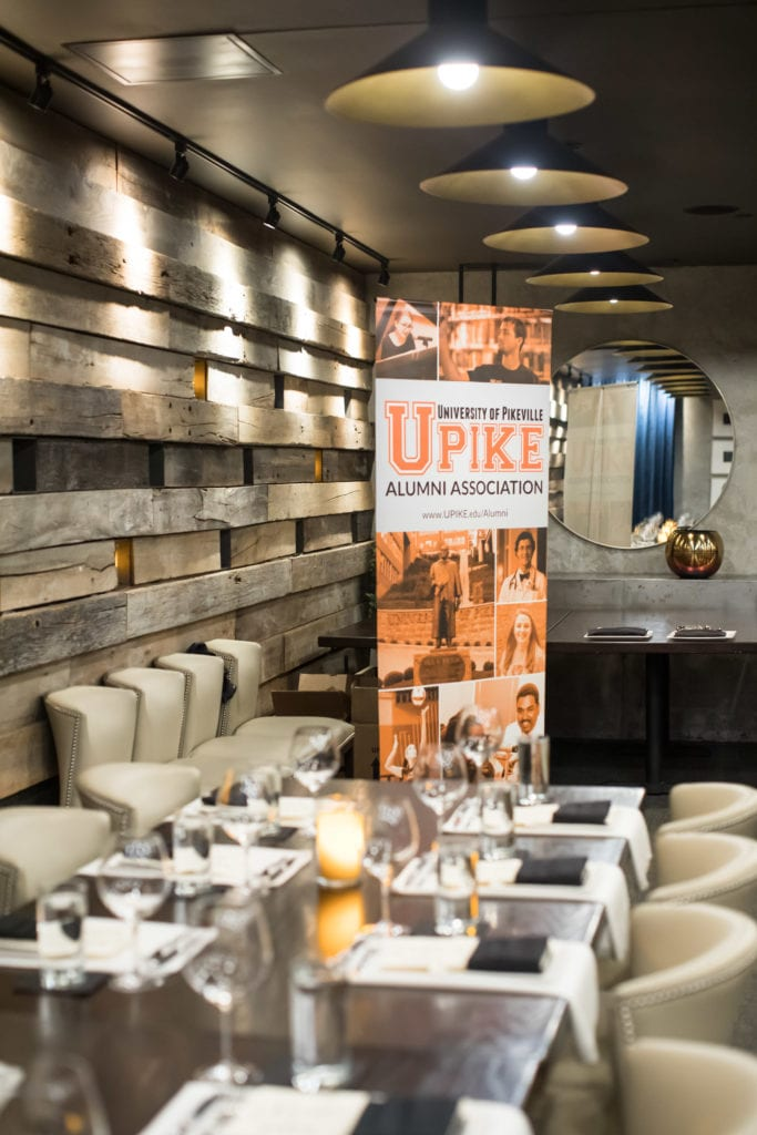 UPIKE banner in event space