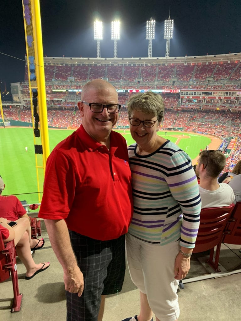 KYCOM dean and spouse enjoying baseball game