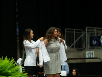 first year KYCOM medical student receiving their white coat