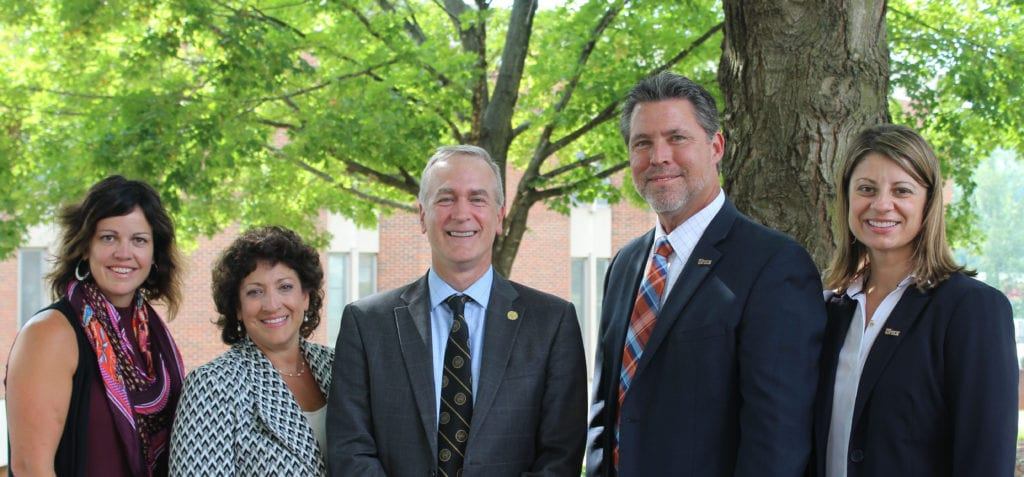 UPIKE President and Provost pose with Ferrum College President and Provost