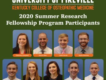 summer research fellowship students at KYCOM