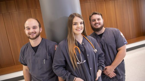 Three UPIKE nursing students