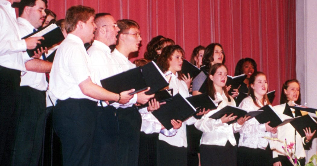 historical photo of choir students