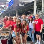 Group from Reds Alumni event at the game