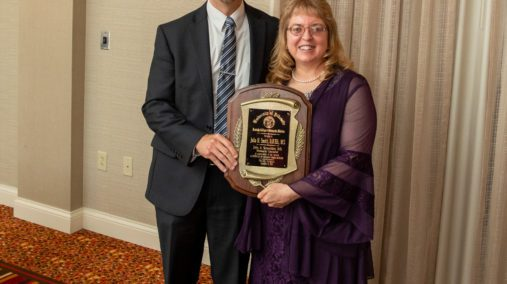 Award recipient Julia Smith pictured with Dean Kingery at KYCOM Founders Dinner