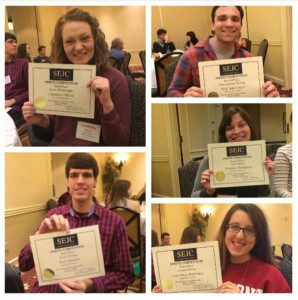 Top left to right are Autumn Allison, Nick Yacovazzi, Will Hadden, Heather Thompson and Courtney Martinez.