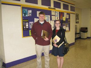 Pictured from left to right are Braxton Fralick and Cassia Kisshauer.