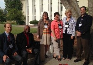 Pictured left to right are Dr. Jonathan Thorndike, Dr. Jeffery Burgin, Dr. Beverly Schneller, Dr. Mimi Barnard, Patricia Jacobs and Dr. Thomas Burns.