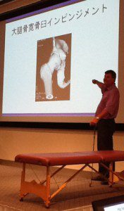 Dr. Mike Voight presenting to Japanese physicians and physical therapists.