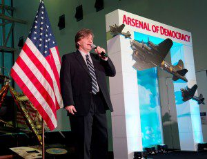 """The """"Arsenal of Democracy:  World War II Victory Gala"""" is held at the National Air and Space Museum in Washington, DC on thursday, May 7, 2015.  The Gala is being held the night before an exceptional flyover of the National Mall by historic WWII aircraft. (James R. Brantley)"""