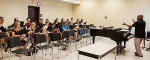 Chorale members have met on campus several times this summer to rehearse for their performance with the Rolling Stones.