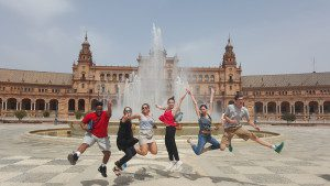 Students in Seville, Spain