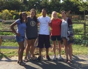 (L to R Bariangela Segovia, Gabi Gumucio, Mohamed Darwish, Savannah Weeks and Morgan Bailey)