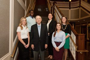 Clayton McWhorter with McWhorter Scholars at Belmont
