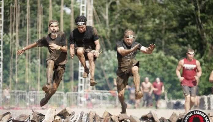 Three faculty members from the College of Theology and Christian Ministry compete in Spartan Race.