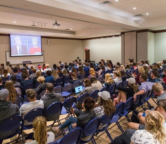 Sept. 26 Debate Watch Party in Beaman A&B