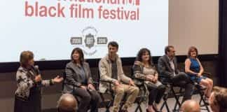 Guest panel at the International Black Film Festival in the R. Milton and Denice Johnson Center Large Theatre