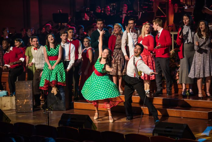 Student perform at Christmas at Belmont in December 2015