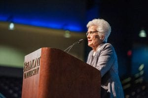 Barbara Massey Rogers speaks at the Health Care Hall of Fame