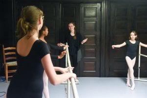 Rejoice student dancers practice during a class at the organization's studio.