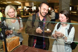 Homecoming smores in Harrington Place Dining