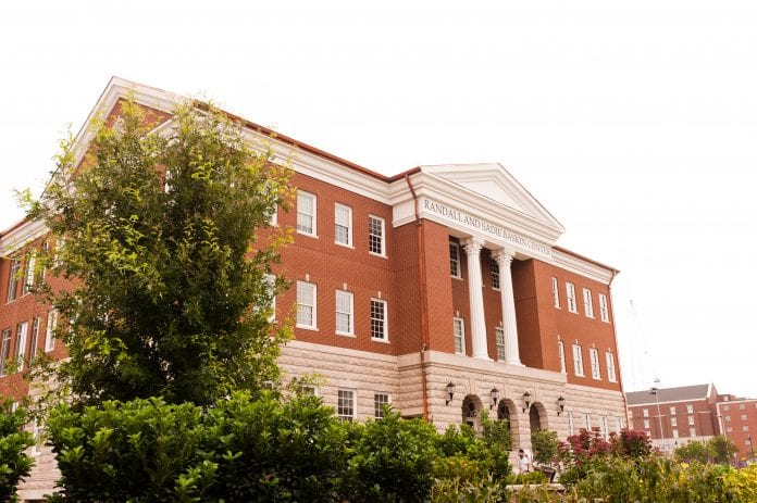 An exterior shot of the Law Building at Belmont University.