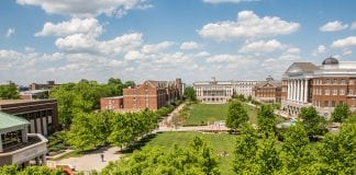 View of Belmont's lawn