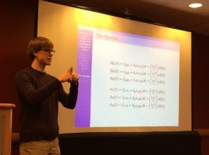 A student presents at MAA, a mathematics conference.