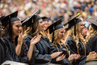 Students during the Commencement Ceremony