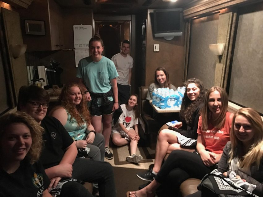 Students on the Happy Together Tour Bus
