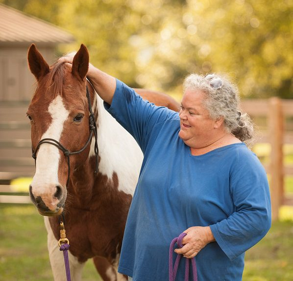 Judy Skeen with a horse