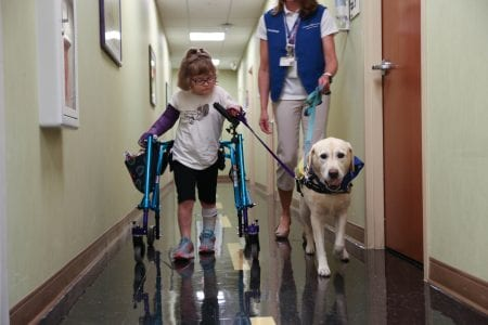 One of Layla's many walks throughout the facility.