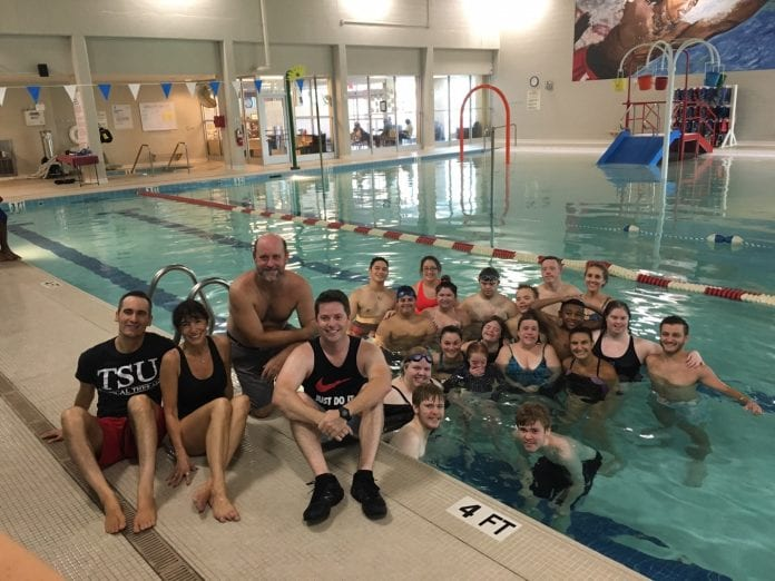 OT and PT students work on Aquafit program.