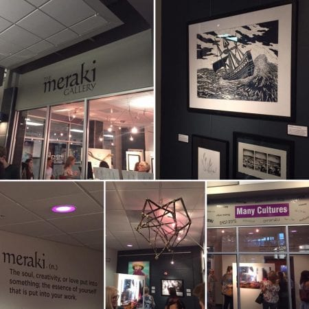 Images of the art at the exhibit in Canton, Ohio