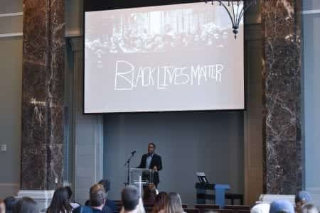 Belmont Alumnus, Brandon Maxwell, speaks at Chapel at Belmont University in Nashville, Tenn. October 9, 2017.